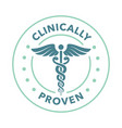 clinically tested approved badge vector image