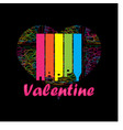 colorful happy valentine vector image vector image