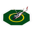commercial helicopter landing helipad zone vector image vector image