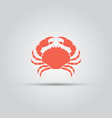 crab isolated colored red icon sign vector image vector image