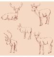 Deer sketch Pencil drawing by hand Vintage vector image vector image