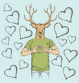 deer valentine day concept vector image vector image