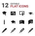 degree icons vector image vector image