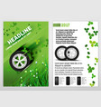 ecological tyre brochure vector image vector image