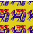 ethnic seamless pattern fabric with unusual tribal vector image vector image