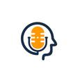 face podcast logo icon design vector image