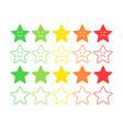 feedback concept star rank level satisfaction vector image vector image