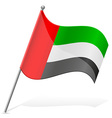 flag of United Arab Emirates vector image
