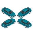 flat 3d isometric high quality city sedan car vector image vector image