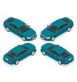 flat 3d isometric high quality city sedan car vector image