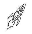 flying rocket vintage tattoo concept vector image vector image