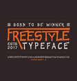 font freestyle craft vector image vector image