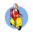Food Delivery Scooter vector image