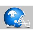 Football team helmet vector image