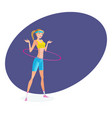 girl in summer sportswear engaged with hoop vector image vector image