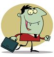 Green Vampire With Briefcase vector image vector image