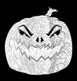 halloween poster with cutted pumpkin jack lantern vector image
