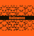 halloween seamless patterns set scary faces vector image vector image