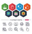 hand icons like and dislike thumb up symbols vector image vector image