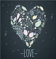 heart card love vector image