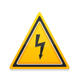High Voltage Icon vector image