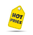 hot price hang tag vector image vector image