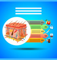 infographics skin anatomy on blue background vector image vector image