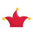 joker cap hat vector image vector image