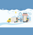landing delivery of goods tracking of goods vector image