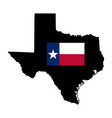 map american state texas with flag isolated vector image