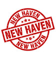 new haven red round grunge stamp vector image vector image