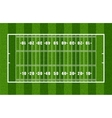 Overview of American Football Field vector image vector image