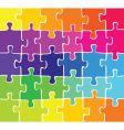 puzzle pieces vector image vector image
