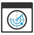 Radar Calendar Page Toolbar Icon vector image vector image