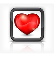 red heart button 10 v vector image vector image