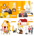robots in life infographics posters set vector image
