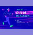 run championship banner or poster design template vector image
