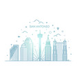 san antonio city skyline background vector image
