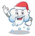 santa snow cloud character cartoon vector image