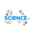 science concept card with outline lab icons vector image
