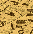 Seamless pattern of books vector image vector image
