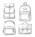 Set of different types bag for travel vector image vector image