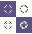 Set of downloaders vector image