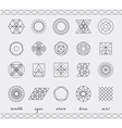 Set of geometric hipster shapes453 vector image vector image