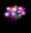 set of isolated fireworks vector image
