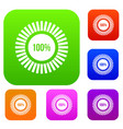 sign 100 download set collection vector image
