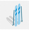 Ski equipment isometric icon