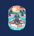 skull summer beach t shirt graphic design vector image vector image
