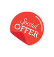 special offer sticker vector image vector image