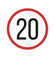 Speed limit 20 vector image vector image